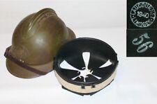 coiffe intérieure cuir noir casque Adrian 1926 t.56