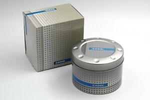 Casio Watch Box Alluminio Scatola Orologi Unisex Grigio e Azzurro Nuova Original