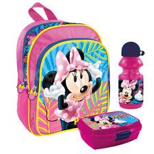 Brotdose Trinkflasche DISNEY Tasche Flasche Rucksack Set Minnie Maus Mouse