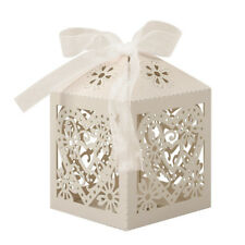 25 Luxury Boxes Wedding Party Favour Laser Cut Sweets Cake Candy Gift Favor