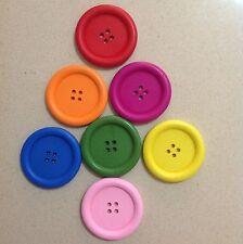 Wooden Buttons 3.5cm 6 Pieces - Various Colours Australian Seller