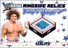 WWE Carlito 2 Color 2007 Topps Heritage Event Worn T-Shirt Ringside Relic Card