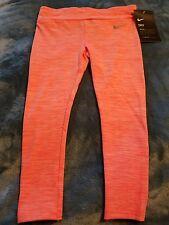 Girls Size 4 Nike Leggings Pants dri-fit bright mango Nwt retail $30