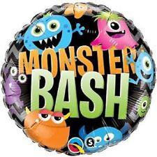 "18"" Foil Mylar Monster Bash Chevron Qualatex Licensed Balloon Party"