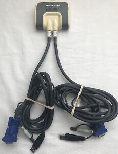 IOGEAR GCS632U 2 PORT VGA USB COMPACT KVM SWITCH BOX