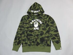 26999 bape 20A/W 1st camo college pullover hoody green XL
