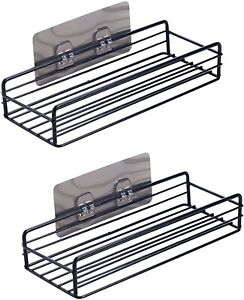 2Pack Shower Caddy Shelf Rustproof Bathroom Basket Organizer Self Adhesive Wall