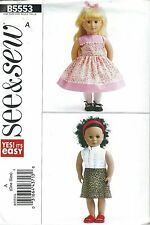 """See & Sew 5553 Doll Clothes for 18"""" Doll    Sewing Pattern"""