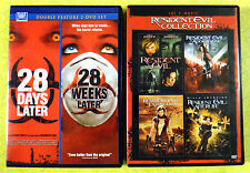 Resident Evil 4 Movie Collection & 28 Days/Weeks Later Double ~ Zombies DVD Lot