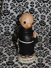 Help The Cause Franciscan Friar Saving Jar Piggy Bank Figurine Without Stopper