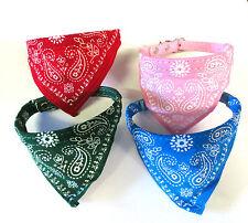 Dog Bandana Collar- Adjustable Cat Pet Neckerchief- 4 Colours Available