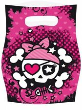6 x Girl Girls Pink Pirate Birthday Party Favor Favour Toy Party Loot Bags