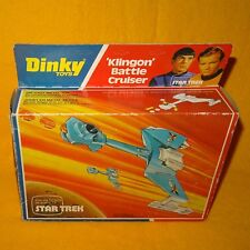 VINTAGE 1977 DINKY STAR TREK 357 KLINGON BATTLE CRUISER DIE CAST VEHICLE BOXED