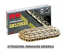 RK CHAIN CATENA XSO PASSO 520 CROSS ENDURO CON RX-RING 120 MAGLIE ORO GOLD