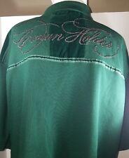 Crown Holder Polo shirt XL dark green Rap Hip-Hop Style Collectible RARE!