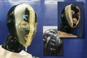 "☀️ LATEXTIL ☀️ - Latexmaske ""FACEVIEW"" - breath play mask - NEU / NEW"