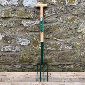 Richard Carters Solid Socket  Ash T Handle Border Garden Digging Fork