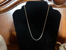 Elegante Goldkette 333 Schlangenkette rund Collier 45cm. Gelbgold