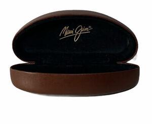 Maui Jim Extra Large Clamshell Hard Case for Sunglasses Eyeglasses Brown Jumbo