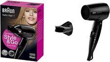 Braun Satin Hair 1 Style&Go klappbarer Reisehaartrockner HD 130 Stylingdüse