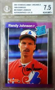 Randy Johnson Donruss Recollection 1989 RC buyback AUTO autograph BGS Rare /25