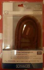 Schwaiger High End Scart-Kabel in bordeaux rot - Stecker vergoldet - 1,5 m - neu