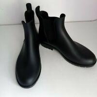 NWOT Asgard Women's Ankle Rain Boots Waterproof Slip On Chelsea Size 7.5 Black