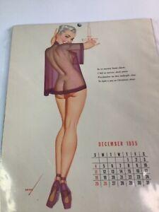 Vintage 1940's-50's PIN-UP Original calendar sexy girl art 10 of 20