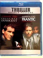 Presumed Innocent/ Frantic (Blu ray,2010) Harrison Ford Double Feat (NEW)