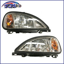 New Pair Of Headlights Headlamps (w/Bulb) For Freightliner Columbia
