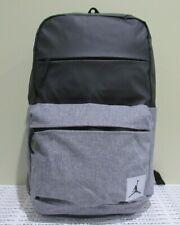 Nike Jordan Jumpman Backpack BlkGry Hiking Gym School Book Bag Duffle 9B0013-023