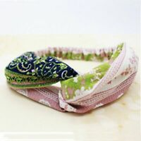 Twisted Rope Floral Accessories Girls Stretch Headband Women Hair Band Hair