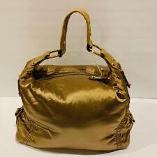 Tod's Vintage Golden Metallic Hobo Handbag Pashmy.