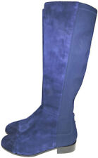 $575 L.k. Bennett -Over-The-Knee Bambra Boots Flat Blue Suede Booties 39