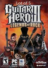 Lot of 5 - Guitar Hero 3 III: Legends of Rock Game Only for MAC & PC New