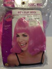 Rubies Womens 60's Pink Flip Wig Retro Bangs Big Hair Costume