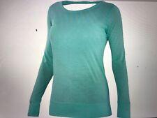 Ibex merino Videria Scoop back long sleeve top damselfly color womens small Nwt