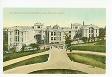 """""""New Medical Building"""" McGILL UNIVERSITY Antique Montreal CPA Postcard 1910s"""