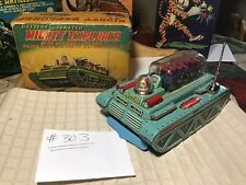 Vintage Tin Yonezawa Battery Operated Space Mighty Explorer/Moving Pistons 1950s