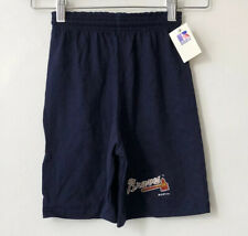 vintage atlanta braves shorts russell athletic youth size small NWT 1992 NOS ⚾️