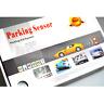 LED Display Audio Buzzer 4 Point Car Parking Aid Reverse Sensor System Kits