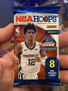 1 - 2020-21 Panini NBA Hoops 8 Card Pack - New Factory Sealed - Ships Fast!