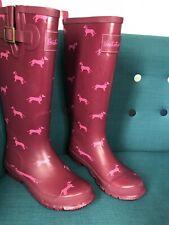 Brakeburn Dark Pink Sausage Dog Wellies UK4