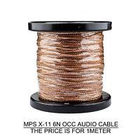1M AUDIO CABLE MPS X-11 OCC Headphone Upgrade Speaker Amplifier Wire HIFI DIY