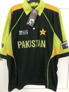 Pakistan Cricket Shirt 2007 Icc Cricket World Cup B.N.W.T Size Large/Extra Large