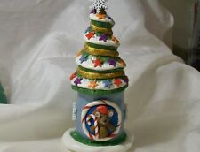 CHRISTMAS TREE COTTAGE polymer clay unique Snow gingerbread Santa Baby Elf Bear