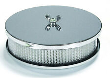 "Mr. Gasket 1486 Chrome Air Cleaner 6-1/2"" x 2"""