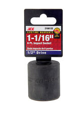 "NEW! ACE Impact Socket- 1 1/16"", 1/2"" Drive, 6-Point 2160133"
