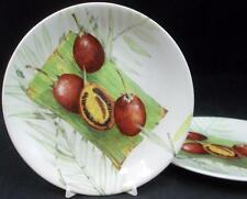 Gien EXOTIC 2 Bread & Butter Plates GREAT CONDITION