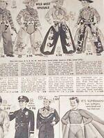Vintage Newspaper Halloween Costume Ad SUPERMAN GI JOE POLICEMAN